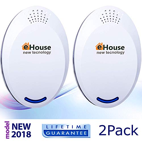 (Ultrasonic Pest Repeller Electronic Repellent Best Plug in - Get Rid Of - Rodents, Squirrels, Mice, Rats, Insects - Roaches, Spiders, Fleas, Bed Bugs, Flies, Ants, Mosquitos, Fruit Fly, Pest)