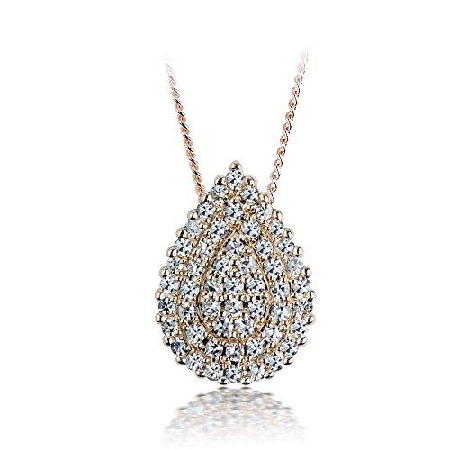 ELLA BEYOND BEAUTY PEAR DIAMONDS PENDANT 14k Gold, natural diamonds I-J color Single cut 0.20 -