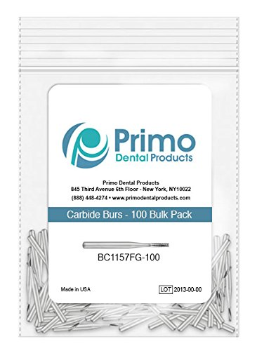 Primo Dental Products BC557SSFG100 Carbide Burs, 557 Short FG Clinic Pack (Pack of 100)