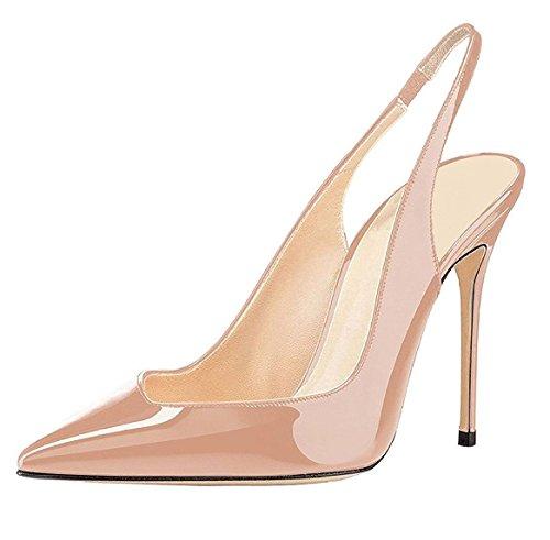 EDEFS Damen Bequeme Flache Spitze Ballerinas Sommer Pumps Schuhe Gold Größe EU40 MpzQnnm