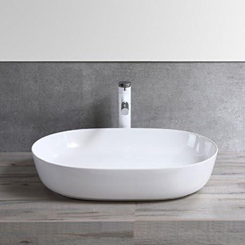 カウンター盆地芸術盆地ホームバルコニー洗面台以上の北欧スタイルのオーバル洗面浴室用セラミック P3/18