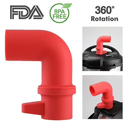 Seat Steam Valve (Tecvinci Original Steam Diverter for Instant Pot Accessories or Pressure Cooker - 360° Rotating Design to Adjust Direction Freely, High Grade Food Silicone | BPA Free)