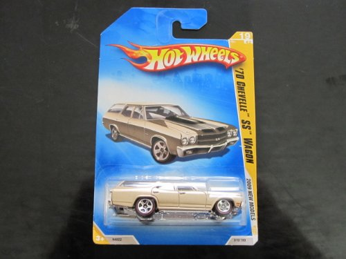 '70 Chevelle Ss Wagon Wal-mart Exclusive (Mtflk. Gold, W/black Stripes Red Line 5 Spokes) 2009 New Models (Red Wagon Wal Mart)