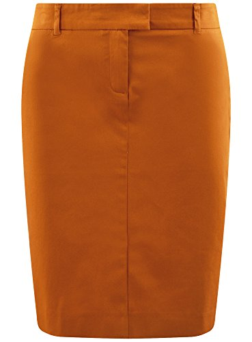 Droite Jupe 5700n Coton en oodji Jaune Femme Collection ERywqc67t