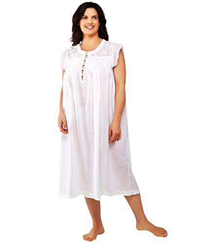 Louise Mitchell Plus Size Womens Nightgowns – Cotton Slee...