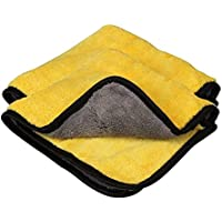 VRT® Ultra Premium Super Absorbent Extra Thick Multipurpose Microfibre Cloth for Car Cleaning, Kitchen, Bike, Laptop, LED TV, Mirrors, Bathrooms, Furniture and Many More. (40x30cm)(pack of 2)