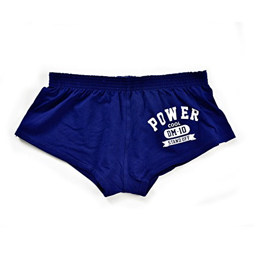 Men's Underwear Boxer Trunks Sexy Low Rise Cut Fashion Sports Style(M, Blue)