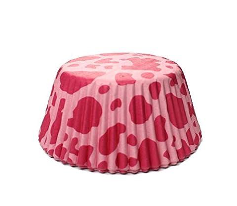 Hot Pink Cow Print Standard Size Cupcake Liners | 25 pieces - Pink Cupcake Print