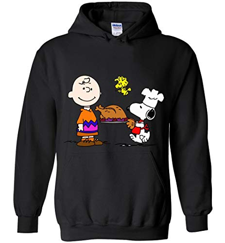 Happy Thanksgiving Snoopy and Brown Funny Hoodie]()
