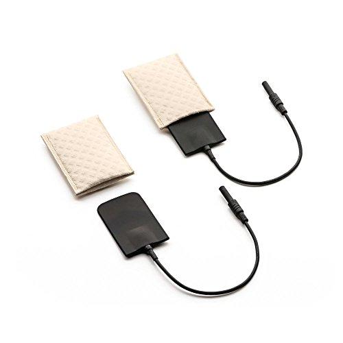 Saalio® Set-Achselelektroden (1 Paar) aus Silikon mit Schwammtaschen (gegen starken Achselschweiß) - Zubehör für die Leitungswasser-Iontophorese Sets Saalio® DE, FA sowie AX