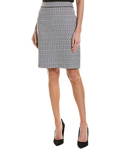 Black And White Tweed Skirt - Tahari by ASL Women's Tweed Skirt with Waistband Detail Black/White 10