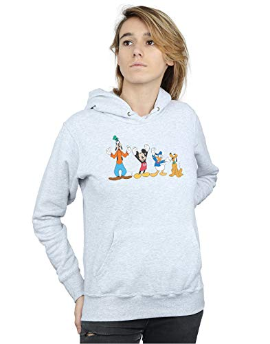 Gris Capucha Mouse Deporte Friends Mujer Mickey Disney nx6gzR