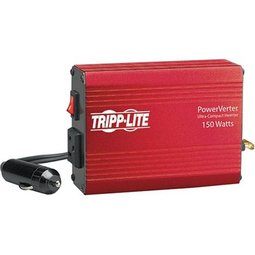 Tripp Lite 150W Car Power Inverter with 1 Outlet, Auto Inverter, Ultra Compact - 75w Plug Inverter