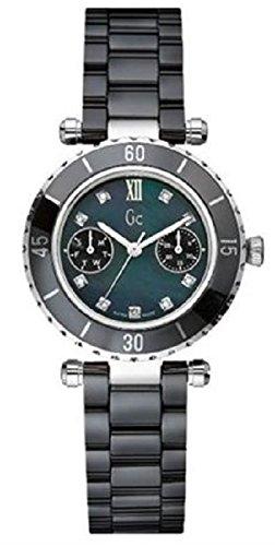 GUESS Gc DIVER CHIC Diamond Dial Black Ceramic Timepiece