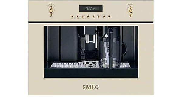 Smeg CMS8451P - Cafetera (Integrado, 1,8 L, Granos de café ...