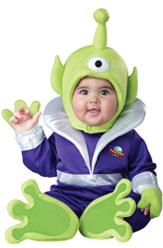 InCharacter Costumes Baby's Mini Martian Costume, Green/Purple, Small