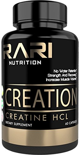 Creatine Gainer Weight (RARI Nutrition - CREATION - 100% Natural Creatine Pills - Creatine HCL - Muscle, Size, and Strength - Vegan and Keto Friendly - No Bloating - Superior Solubility - Vegan Capsules - 60 servings)
