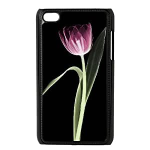 Custom Phone Case with Tulip Image On The Back Fit To iPod Touch 4
