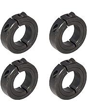 "1-3/4"" Bore Single Split Shaft Collar Black Oxide Set Screw Style (4 PCS)"