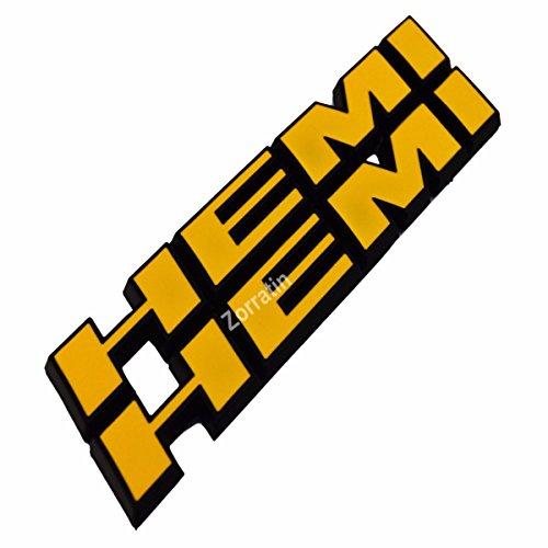 2x Car Badge For HEMI Emblems Side Fender Badge Decal with Sticker For Charger V8 RT Ram 1500 Challenger Black