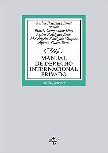 Manual De Derecho Internacional Privado por Andrés Rodríguez Benot epub