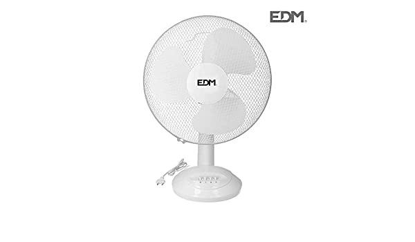 Ventilador de sobremesa 55W 40cm 3 velocidades EDM 33964: Amazon ...