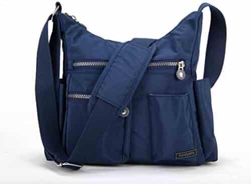 2dc63915fb Nodykka Crossbody Bag for Women Shoulder Travel Purse Nylon Messenger  Satchel Lightweight Handbag With Multi Pocket