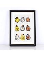 XXCC Medailleframe voor orden, eresteken medailledisplay, fotolijst, houten fotolijst met glazen vitrine voor orden en eresteken houten vitrine