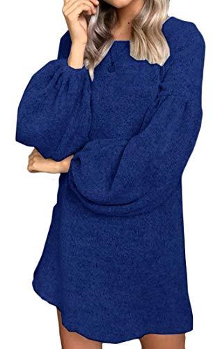 Long Knit Domple Dress Sleeve Mini Bodycon Sweater Plain Women 1 Fashion tOqwT1