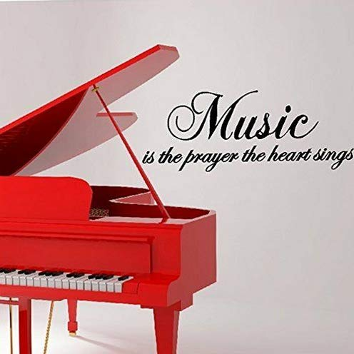 Beetlejuice Cape - Waldenn Music is The Prayer The Heart Sings Vinyl Wall Art Decal Words Lettering Decor | Model DCR - 1516