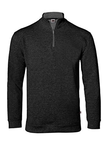 - Badger - FitFlex French Terry Quarter-Zip Sweatshirt - 1060 - L - Black