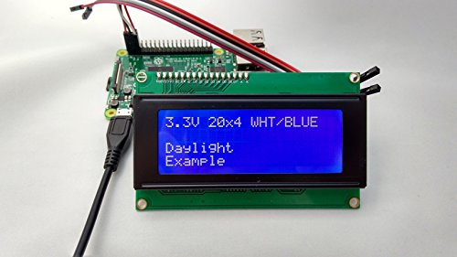 SPI I2C UART 20x4 LCD White Text, Blue Background