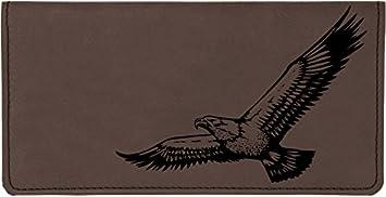 Soaring Eagle Laser Engraved Leatherette Checkbook Cover