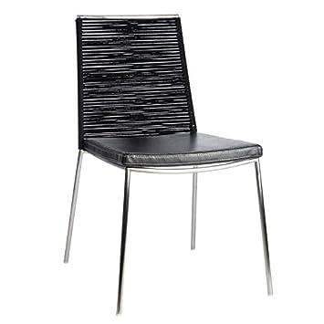 tousmesmeubles chaise cuir noir lucifer n2 l 53 x l 61 x h - Chaise Cuir Noir