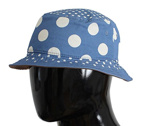 Dolce & Gabbana Blue Polka Cotton Silk Sun - And Hat Dolce Gabbana