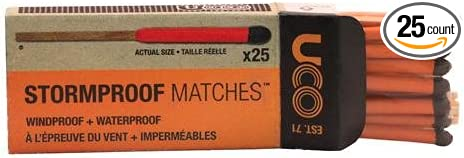 NEW UCO Stormproof Matches 25-Pack With Side Strikers Windproof Waterproof