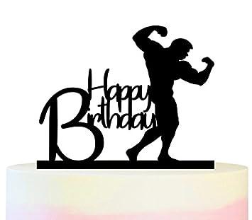 Innovedesire Happy Birthday Bodybuilding Kuchenaufsatze Hochzeit