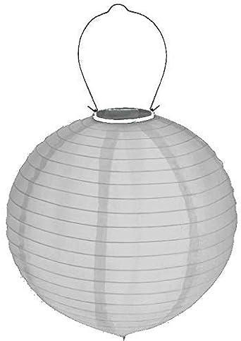 Cepewa Led Solar Farolillo Blanco Ø 30cm Nylon Iluminación de Jardín, 3er Pack (X 3 1 Farolillo): Amazon.es: Iluminación