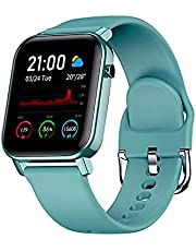 """IFOLO Smart Watch for Android and iOS Phone with 1.4"""" Touch Screen, Activity Fitness Tracker Heart Rate Sleep Monitor, 5ATM Waterproof Pedometer Smartwatch Step Counter for Women and Men"""