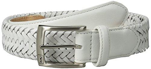 PGA TOUR Men's Comfort Stretch Belt, White, 36
