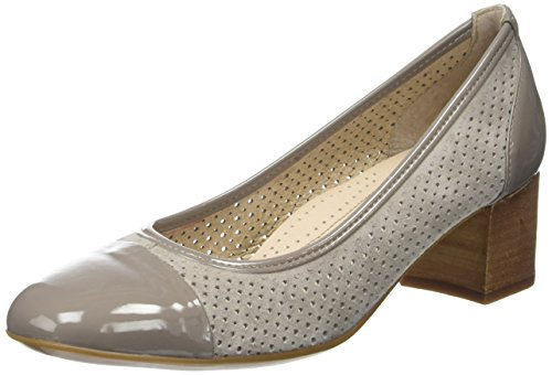 Stonefly Women's Lory Ii 2 Closed Toe Heels Grey (Taupe 423) NSnSb3UG8