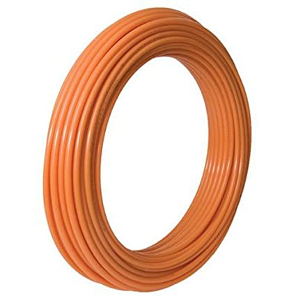 SharkBite PEX Pipe 1/2 Inch, Orange, Heat Radiant Barrier, Potable Water,  Push-to-Connect Plumbing Fittings, U860O100, 100 Foot Coil