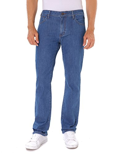 Indigo alpha Straight Fit Medium Denim Blue Jeans for Men