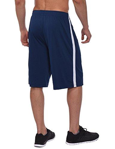BALEAF Mens 11 Athletic Basketball Shorts Lightweight Training Workout Zipper Pockets Drawstrings