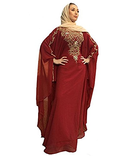 Covered Bliss Lanya Kaftan For Women-Long Sleeve Maxi Dress, Gown Formal Lounge Wear - Montreal Women Hot