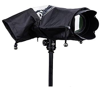 Waterproof Rain Cover Protector Bag for Nikon //Canon SLR Cameras Black