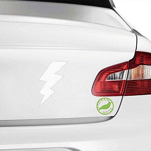Lightning Bolt Decal Sticker (white, 5 inch)
