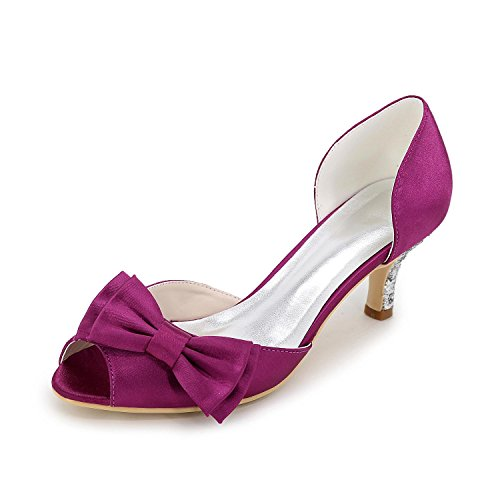 Evening Yards Summer Large Purple Silk Party Shoes Women'S Color With Heels Spring Multi Low amp; YC L High Wedding autumn xCqUxv4w