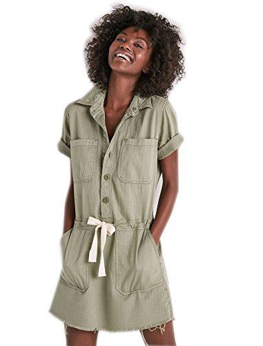 (Lucky Brand Women's Drawstring Dress, sage FRAY, M)