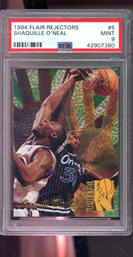 (1994-95 Fleer Flair Rejector #5 Shaquille O'Neal Rejectors Shaq ONeal Insert PSA 9 Graded NBA Basketball Card )